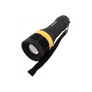 Lanterna Led Mini Abs C/ Zoom Preto Brasfort
