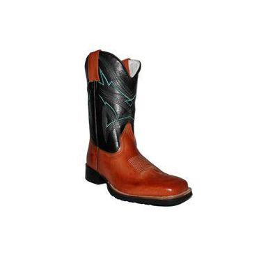 Bota Masculina Latego Chocolate Preto Mexicana