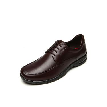 Sapato Social Couro Democrata Cadarço Marrom Democrata148102-002 masculino