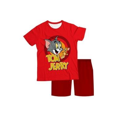 Pijama Infantil Tom e Jerry Vermelho PJMC
