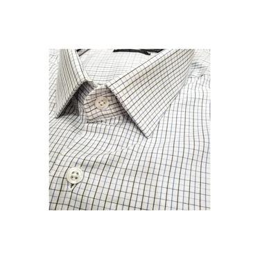 Camisa Manga Curta Ogochi Branco Xadrez 001000041