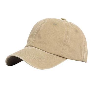 PRETYZOOM Boné de beisebol de cor lisa simples chapéu de verão chapéu de sol de algodão para mulheres homem estudante (Cáqui) Artigos de boné de verão