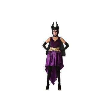 Imagem de Fantasia Malévola Bruxa Má Com Chapéu de Halloween Adulto Feminino