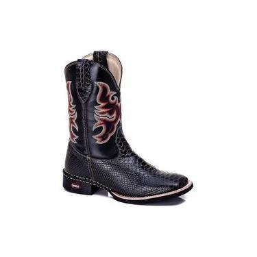 Bota Texana Country Pele Cobra Escamada Masculina Couro Rodeio 802