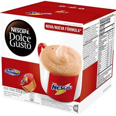 Café em Cápsula, Nescafé, dolce gusto, Nescau, 16 Cápsulas