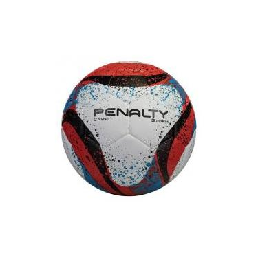 Bola Penalty Storm VII Campo Branca e Vermelha 579ea11051094