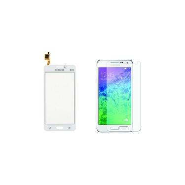 Kit Touch Screen Tela Vidro Galaxy Gran Duos Cor: Branco Modelo: G530 G531 + Película Gran Prime