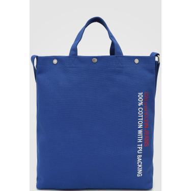 Bolsa Calvin Klein Lettering Azul-Marinho Calvin Klein K60K605311 feminino