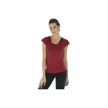 e62f1855dc652 Camiseta Oxer Ari New - Feminina - Vinho Prata Oxer