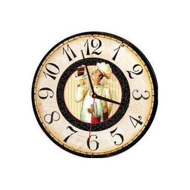 3a9b107c593 Relógio De Parede Estilo Rústico Chefe Cozinha 30 Cm