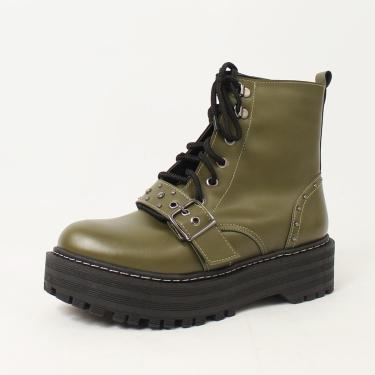 Bota Lari Napa Verde Militar - Cor: Verde - Tamanho: 39