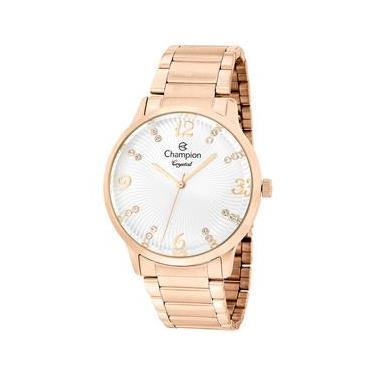2edfbbe8daf Relógio Feminino Analógico Champion CN25556Z - Rosê Branco