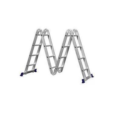 Escada Multifuncional 4x4 16 Degraus Com Plataforma - 5134 - Mor
