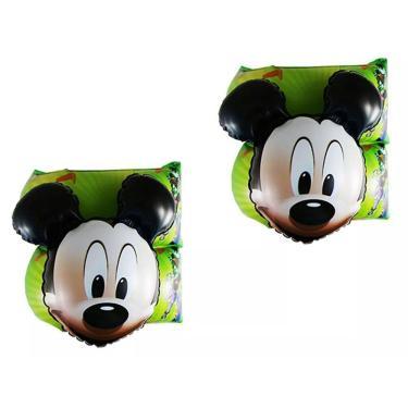 Boia de Braço Inflável Disney Mickey Aventuras 19x19cm Etitoys DYIN-016