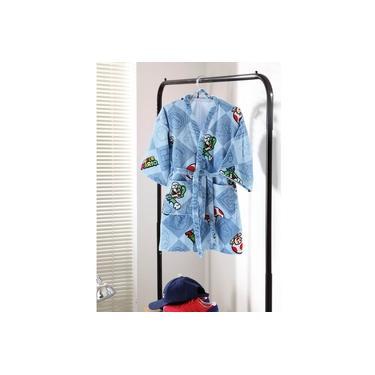 Roupão de Banho Infantil Super Mário 05 Dohler Aveludado Tamanho G