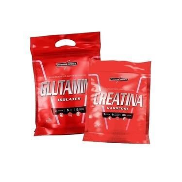 Kit 01 Creatina 1kg + 01 Glutamina 1kg - Integralmedica