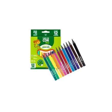 Lápis de cor 12uni mini Leonora
