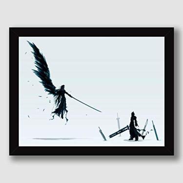 Quadro Final Fantasy 7 Art Game Jogos Decoracao Moldura Paspatur Pronto para Pendurar
