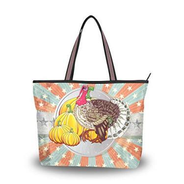 Bolsa de ombro vintage tema Halloween bolsa de ombro para mulheres e meninas, Multicolorido., Large