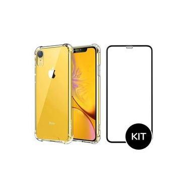 Capinha Capa Anti Impacto Iphone XR Transparente + Película 3D - FLM MJ SHOP