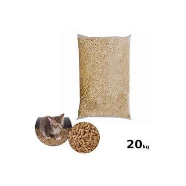 Granulado Higienico em Madeira 20kg Areia para Gato
