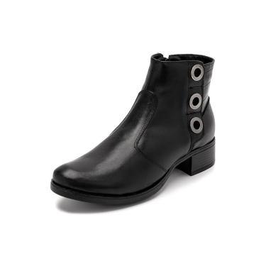 Bota Sandalo Feminina Clave De Fa Sitar Preto  feminino