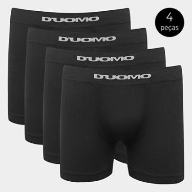 0f959e61495 Kit Cueca Duomo Boxer Sem Costura Microfibra 4 Peças - Masculino