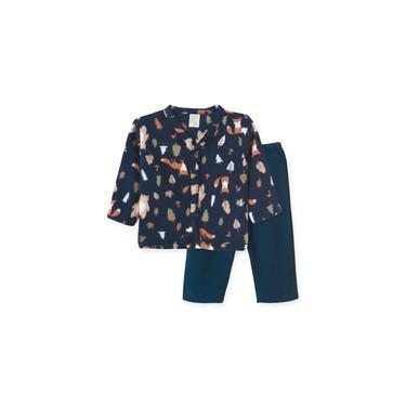 Pijama Infantil Soft Pingo Lelê Raposa Marinho