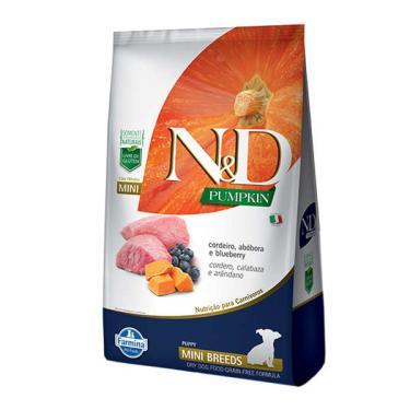 Ração Farmina N&D Pumpkin Carnes Nobres Cordeiro para Cães Filhotes de Raças Pequenas - 800 g