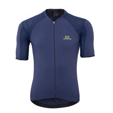 Camisa De Ciclismo Masculina Marcio May Elite Marinho / Verde