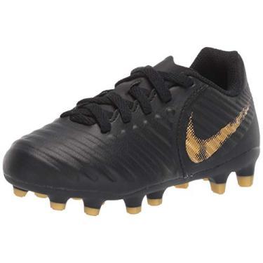 Imagem de Chuteira Campo Nike Legend 7 Club Infantil, Cor: Preto, Tamanho: 35