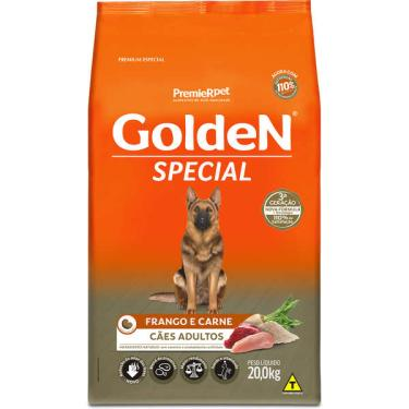 Imagem de Ração Seca PremieR Pet Golden Special Cães Adultos Frango e Carne - 20 Kg