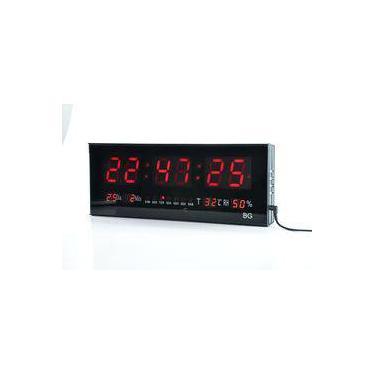 565bab13d89 Relógio De Parede Grande Painel Led Digital Calendário Hora Temperatura