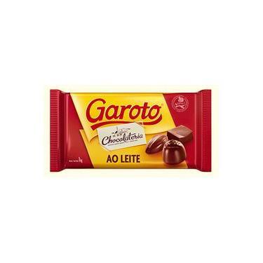 Barra De Chocolate Ao Leite Derreter Garoto 2,1kg