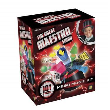Imagem de Kit de Mágica Mega com 101 Truques + Cartola de Mágico Indicado para +7 Anos Colorido Multikids - BR661 BR661