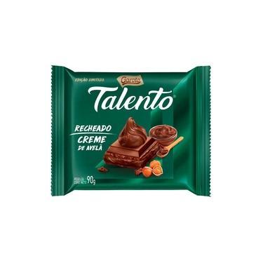 Chocolate Talento 90gr Recheado Creme De Avela