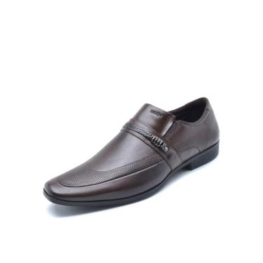 Sapato Social Couro Ferracini Liso  Marrom Ferracini 4061-281H masculino