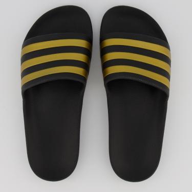 Chinelo Adidas Adilette Aqua Preto e Dourado - 34-35