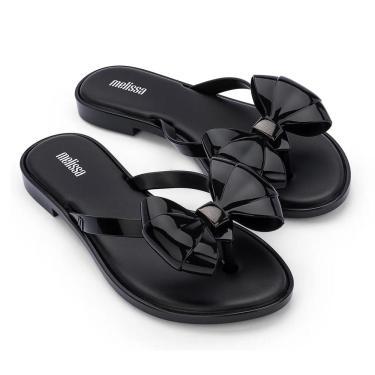 Chinelo Melissa Flip Flop Slim - 38 - Preto Opaco