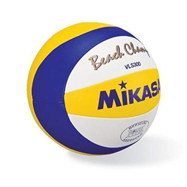 Imagem de MIKASA VLS300, BEACH CHAMP – Bola oficial do jogo de cinco, azul/amarelo