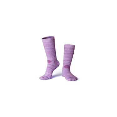 Imagem de Inverno meias térmicas Homens Mulheres Terry meias esportivas meias para esqui montanhismo Roxo L