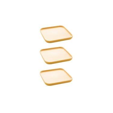 Imagem de Jogo petisqueiras Bon Gourmet Nórdica 15x2cm 3 peças amarelo