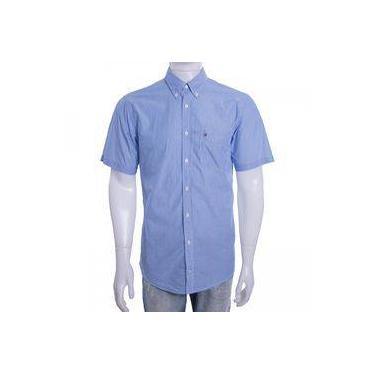 7b6783da6 Camisa Social Masculina Tommy Hilfiger Manga Curta Th0887872474