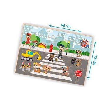Imagem de Quebra Cabeça Esquadrão Pet Madeira - 48 pçs - 558 - Brincadeira De Criança