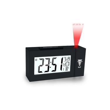 Imagem de Relógio de Mesa Despertador Digital Com Projetor De Horas e Termômetro