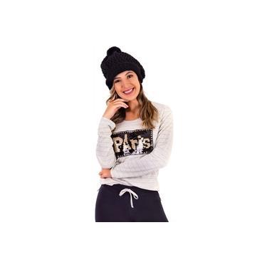 Pijama Longo Feminino - Inverno - Paris - Legging - Maria Rosa Confecções