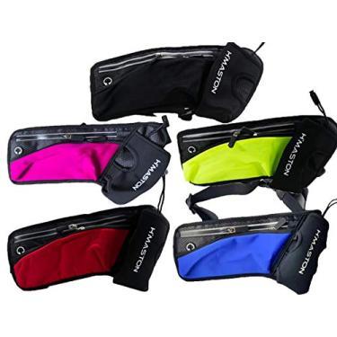 Pochete Corrida Fitness Academia Bike Impermeável Slim, Com 3 Compartimentos, H'Maston (Vermelho)