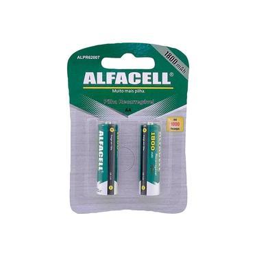 Pilha Recarregável Pequena 1800mAh Alfacell ALPR62007 com 2
