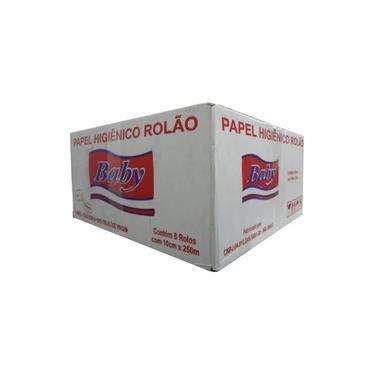 Papel Higiênico Rolo 250 Metros, Folha Dupla, Fardo c/8 Rolos - Baby