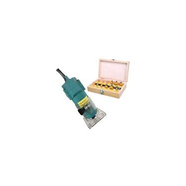 Tupia Manual Laminadora 650w Com Jogo De Fresa Para Madeira 12 Peças